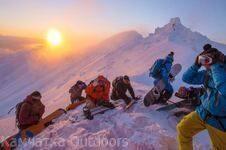 Хели-Ски на Закате